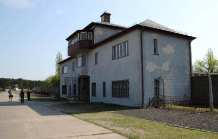 One of the buildings at the Sachsenhausen KZ Concentration Camp outside Berlin.