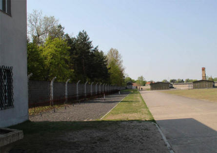A small part of the fence at the Sachsenhausen KZ Concentration Camp outside Berlin.