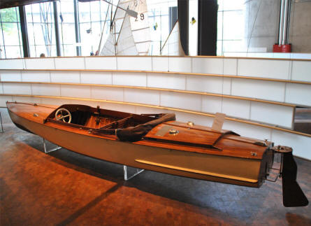 One of the many historic boats displayed at the German Museum of Technology in Berlin.