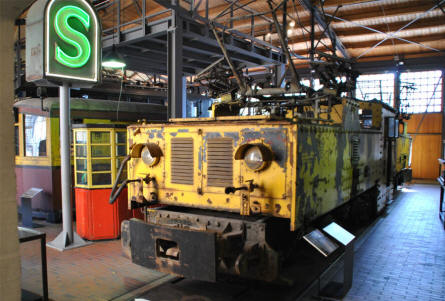 One of the many historic trains displayed at the German Museum of Technology in Berlin.