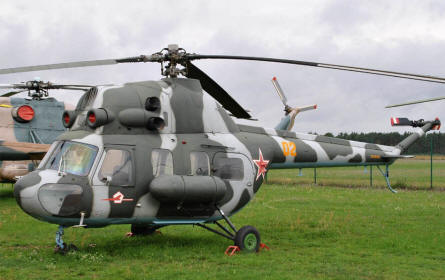 "A ""Cold War"" Mil Mi-2 Hoplite displayed at the Airfield Museum Cottbus."