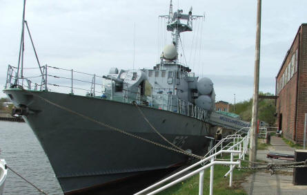 An old East German missile boat at the Peenemünde Historical & Technical Museum.