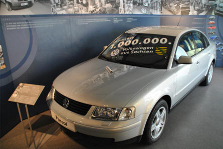 "The number 1 million VW to leave the VW factory in Zwickau - a VW 1999 Passat - displayed at the Automobile Museum ""August Horch"" in Zwickau."