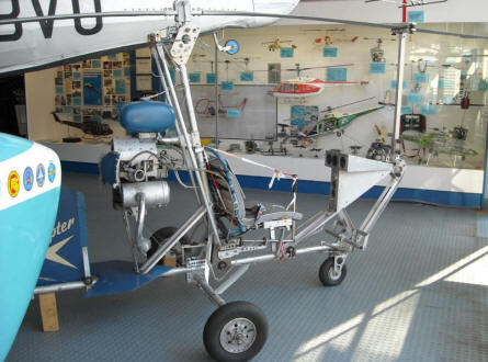 A small gyrocopter at the Helicopter Museum at Bückeburg.