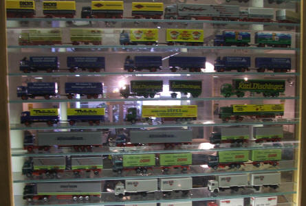 A very small part of the miniature model truck collection at the German Tractor Museum in Paderborn.