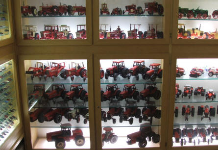 A very small part of the miniature model tractor collection at the German Tractor Museum in Paderborn.