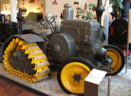 One of the very special tractors at the German Tractor Museum in Paderborn.