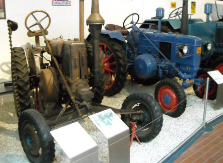 Some of the older tractors at the German Tractor Museum in Paderborn.