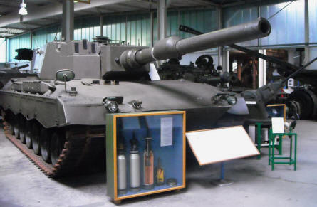 One of the many tanks displayed at the Defence Technology Museum in Koblenz.