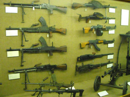A very small part of the huge collection of vintage hand guns displayed at the Defence Technology Museum in Koblenz.