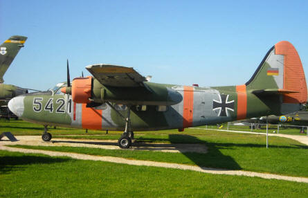 A British built Percival P66 Pembroke C54 displayed at the L.+P. Junior Aircraft Museum in Hermeskeil.