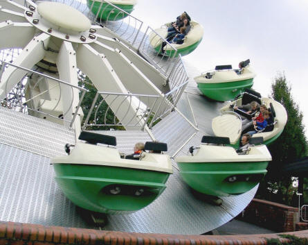 """Flipper"" is one of the many smaller ""speed"" attractions at Heide-Park."