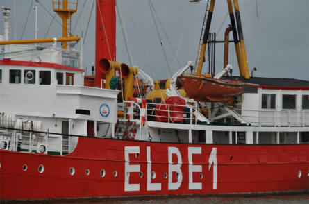 Details from the lightship Elbe 1 in Cuxhaven.