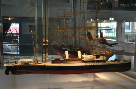 One of the many ship models displayed at the German Maritime Museum in Bremerhaven.