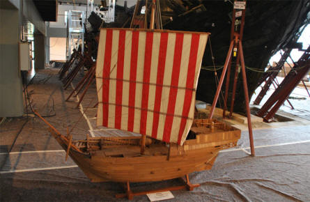 One of the many vintage ship models displayed at the German Maritime Museum in Bremerhaven.