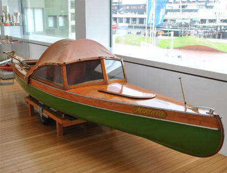 One of the smaller and more special boats displayed at the German Maritime Museum in Bremerhaven.