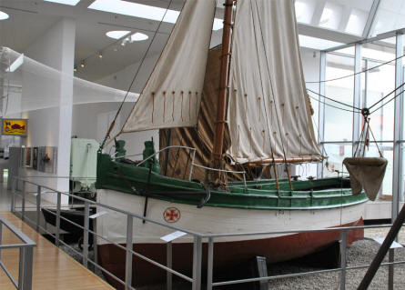 One of the vintage SAR boats displayed at the German Maritime Museum in Bremerhaven.