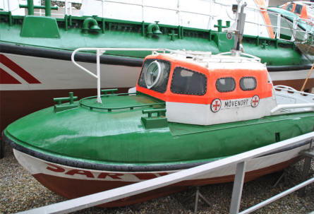 One of the more modern SAR (Search And Rescue) boats displayed at the German Maritime Museum in Bremerhaven.