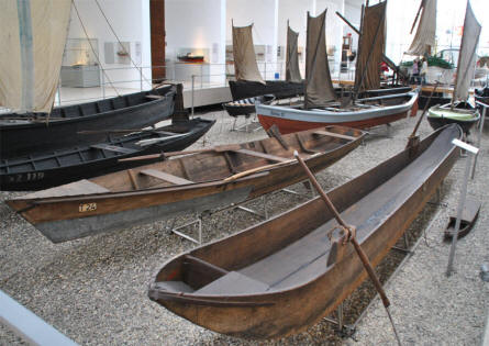 Some of the many smaller boats displayed at the German Maritime Museum in Bremerhaven.