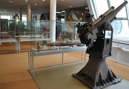 A World War I ships canon displayed at the German Maritime Museum in Bremerhaven.