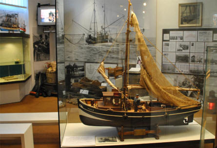 A part of the fishery exhibition at the Maritime Museum Nordfriesland in Husum.