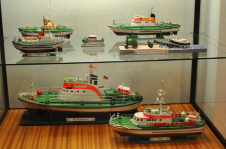 A part of the SAR (Search And Rescue) exhibition at the Maritime Museum Nordfriesland in Husum.