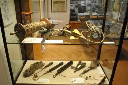 "Some of the many maritime ""tools"" at the Maritime Museum Nordfriesland in Husum."