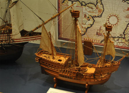 One of the many vintage model ships displayed at the Maritime Museum Nordfriesland in Husum.