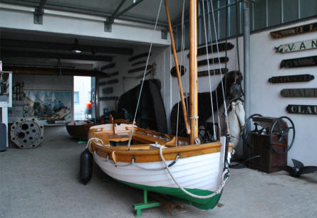 A part of the out-door exhibition at the Maritime Museum Nordfriesland in Husum.