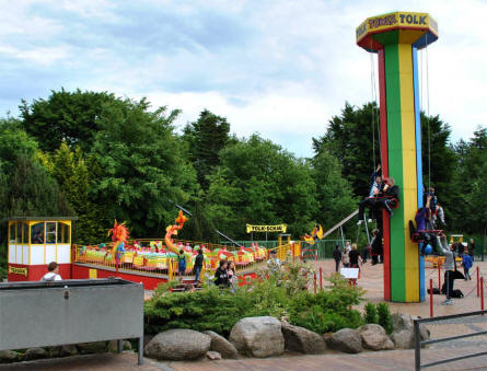 Some of the many smaller attractions at Tolk-Schau Amusement Park.
