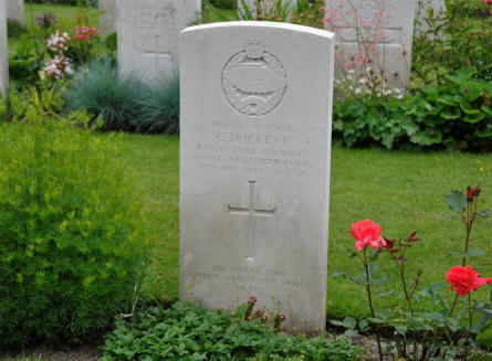 The World War II grave of Trooper C. Duckett at the Hamburg War Cemetery.