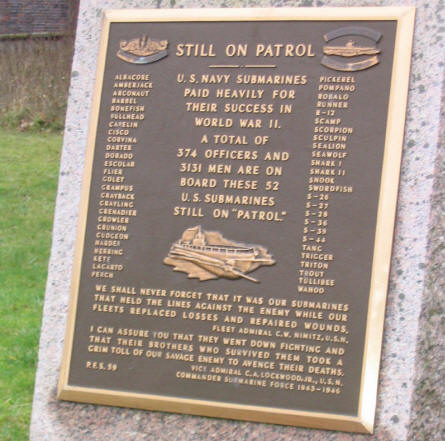 """Still on patrole"" outside the Laboe Maritime Memorial."