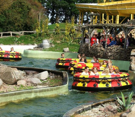 """Rio Dorado"" at Hansa-Park - one of the many water attractions."