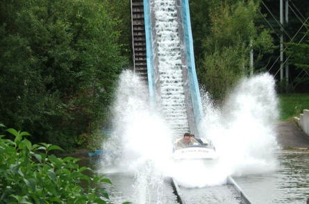 """Super Spalsh"" at Hansa-Park - one of the many water attractions."