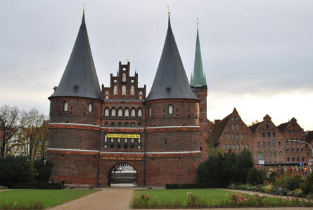 The Holstentor in Lübeck.