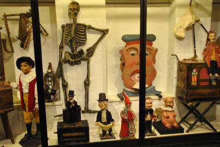 Some of the European dolls displayed at the Museum of Theatre Puppets in Lübeck.