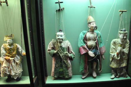 Some of the Chinese dolls displayed at the Museum of Theatre Puppets in Lübeck.