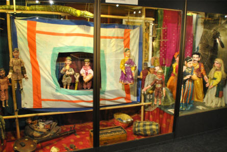 Some of the Asian dolls displayed at the Museum of Theatre Puppets in Lübeck.
