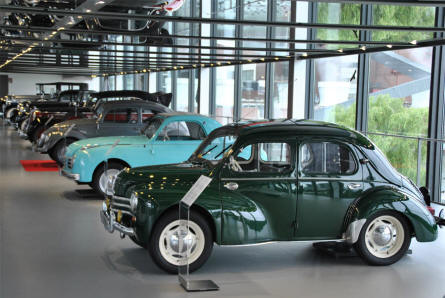 Some of the classic cars displayed at the ZeitHaus Museum (Autostadt) in Wolfsburg.