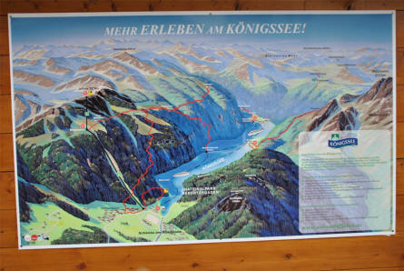 A local poster showing the Lake Königssee area.
