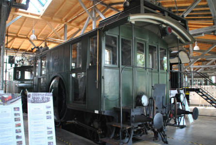 One of the special wagons displayed at the Lokwelt Museum in Freilassing.