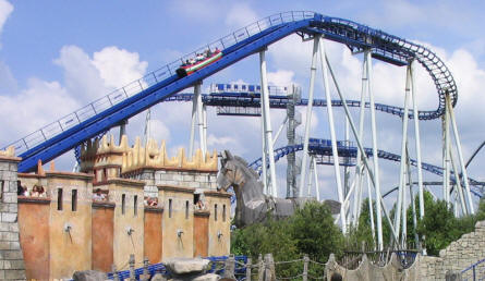 "The water roller coaster ""Poseidon"" at Europa Park."