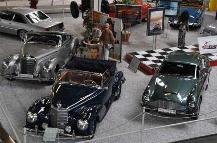 Some of the many classic cars displayed at the Sinsheim Technical Museum.