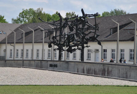 One of the memorials inside the Dachau Concentration Camp - just outside Munich (München).