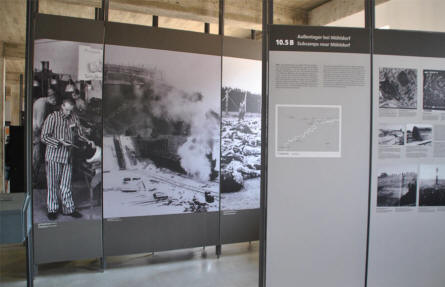 A part of the holocaust exhibition inside the the main building of the Dachau Concentration Camp - just outside Munich (München).
