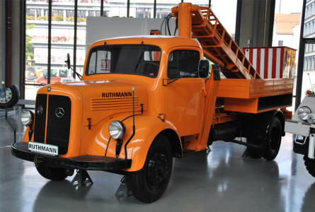 One of the classic trucks displayed at the Deutsches Museum - Transport Collection - in München (Munich).