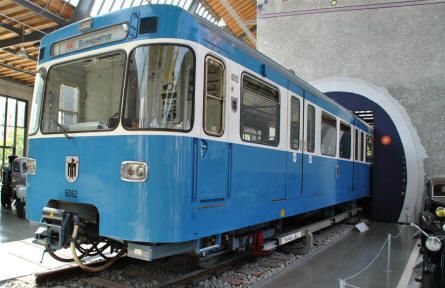 One of the classic trains displayed at the Deutsches Museum - Transport Collection - in München (Munich).