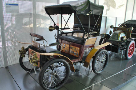 A 1898 Wartburg motorcar displayed at the EFA - Museum of German Automobile History in Amerang/Chiemgau.