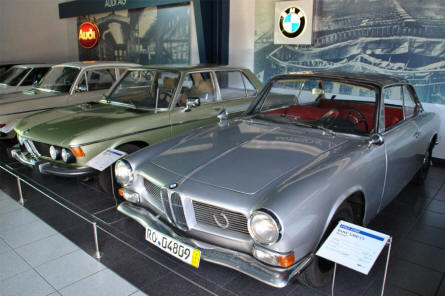 Some of the many classic Audi and BMW displayed at the EFA - Museum of German Automobile History in Amerang/Chiemgau.