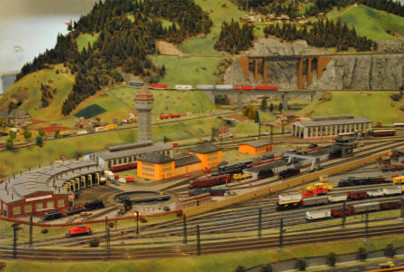 A small section of the huge scale model railway displayed at the DB Museum Nürnberg.